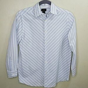 Claiborne Men's Diagonal Stripe Shirt M EUC